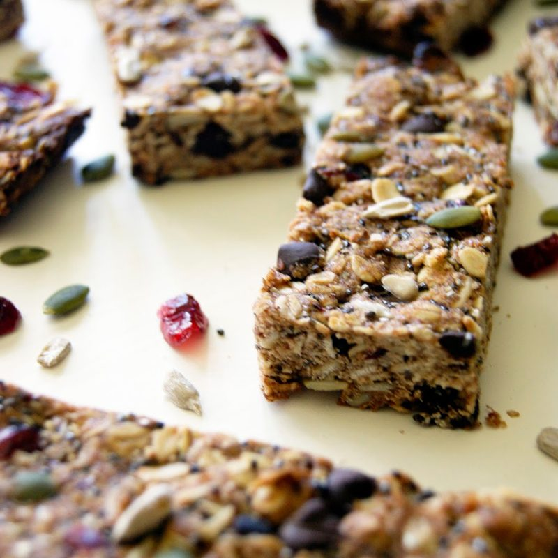 Chewy Granola Bars (Nut-Free, Dairy-Free, Egg-Free)