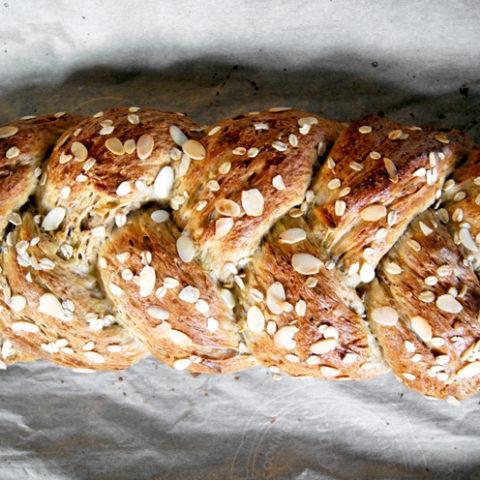 Pear Almond Sweet Bread | occasionallyeggs.com