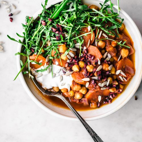 Moroccan Carrot Chickpea Stew | occasionallyeggs.com #healthy #veganrecipes