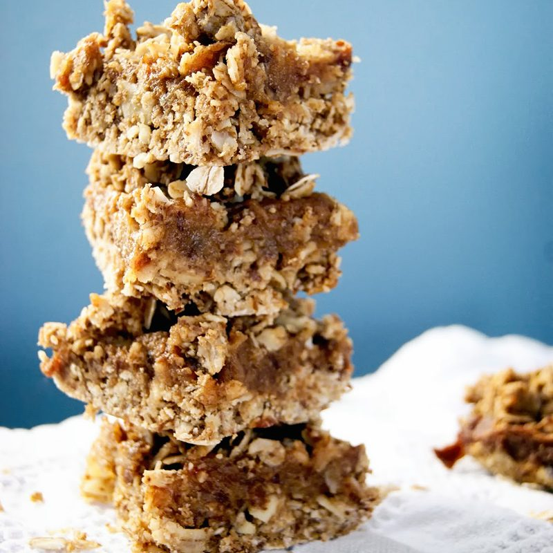 Almond Oat Date Squares