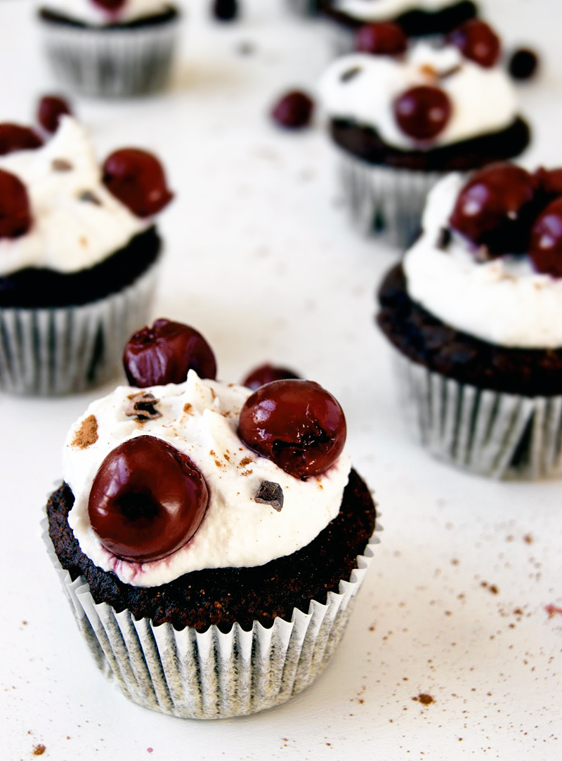 Gluten Free Black Forest Cupcakes | occasionallyeggs.com