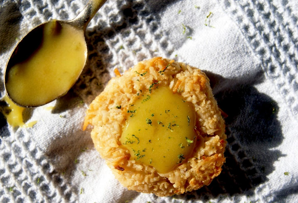 Coconut Lime Thumbprint Cookies (Dairy-free, Gluten-free)