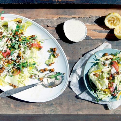 Classic Salad with Creamy Lemon Hemp Dressing | occasionallyeggs.com #veganrecipes