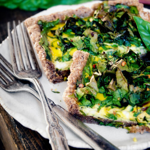 Green Monster Swiss Chard Quiche | occasionallyeggs.com