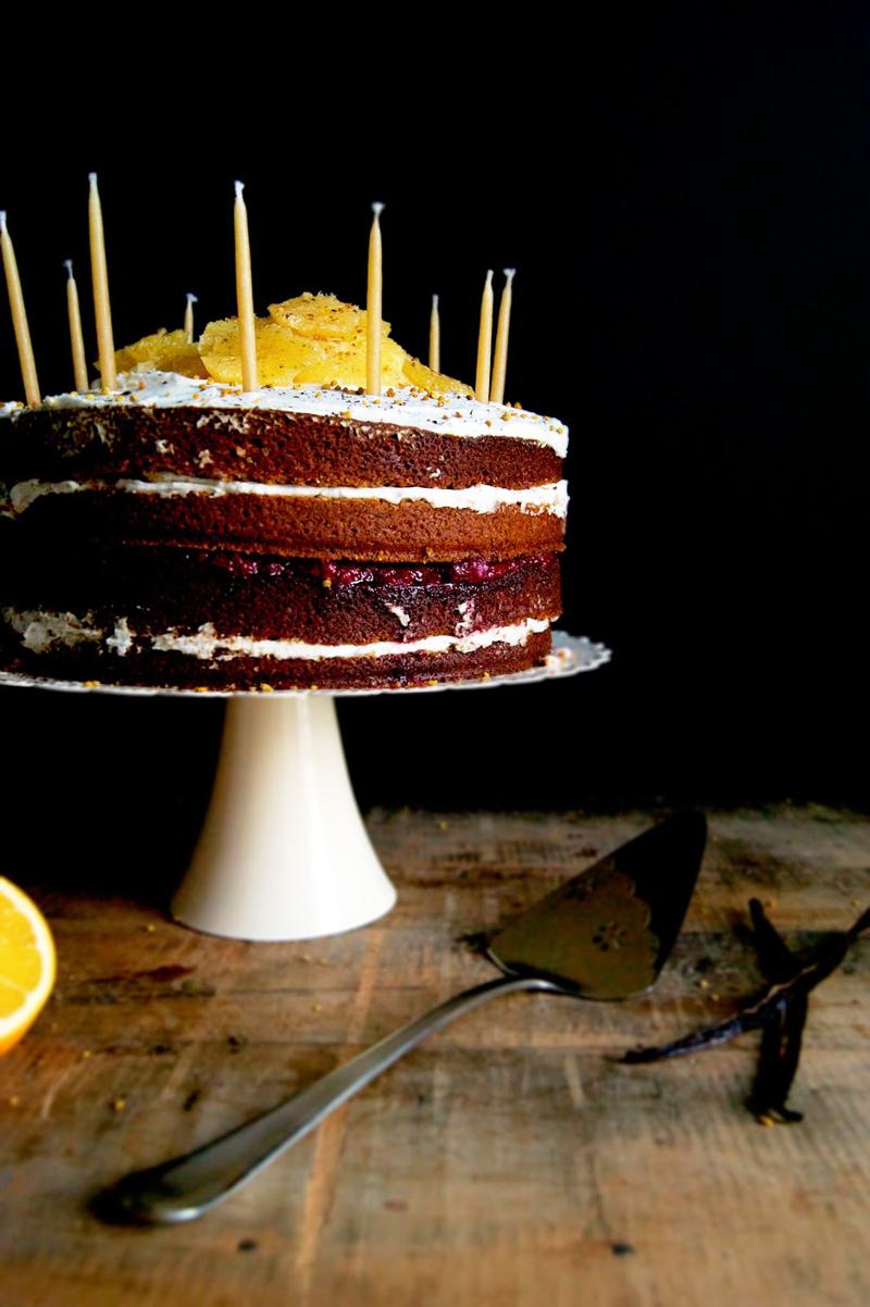 Vanilla Orange Birthday Cake | occasionallyeggs.com #veganrecipes