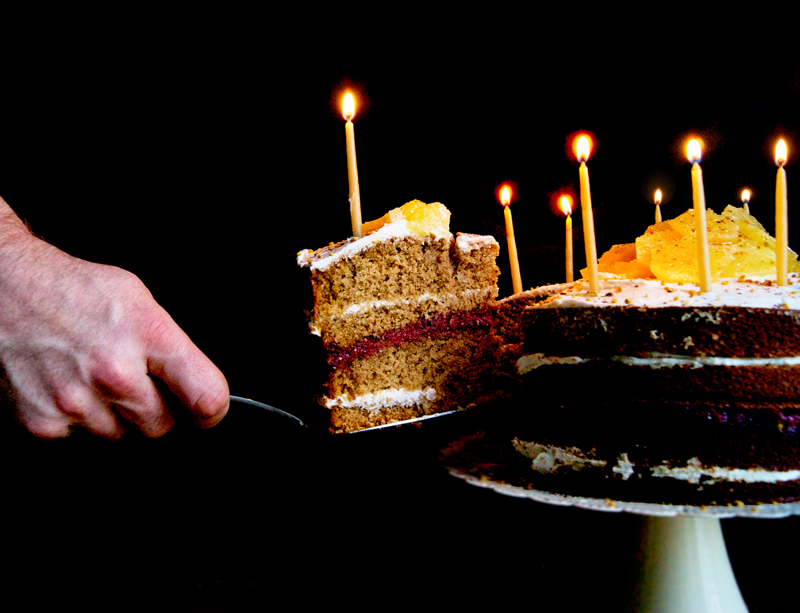 Vanilla Orange Birthday Cake | occasionallyeggs.com #veganrecipes