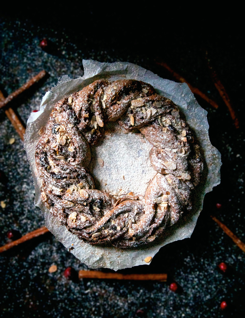Holiday Wreath Bread | occasionallyeggs.com #veganrecipes