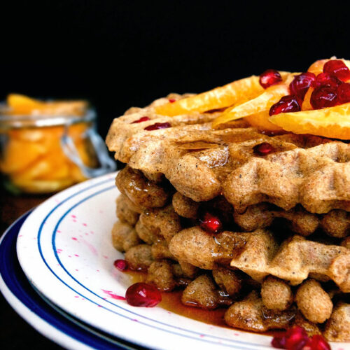 Overnight Waffles with Orange and Vanilla | occasionallyeggs.com #veganrecipes