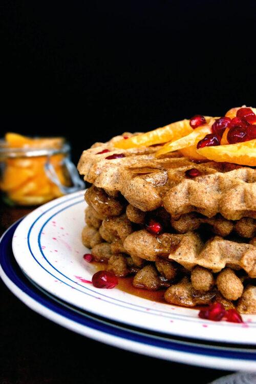 Overnight Waffles with Orange and Vanilla   occasionallyeggs.com #veganrecipes
