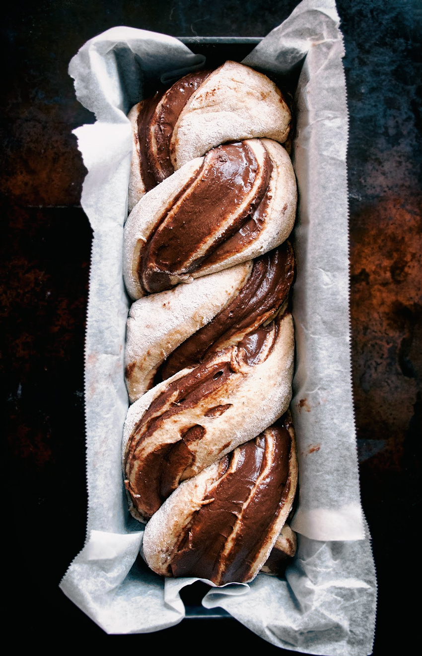 Chocolate Banana Babka | occasionallyeggs.com #veganrecipes #chocolate #babka