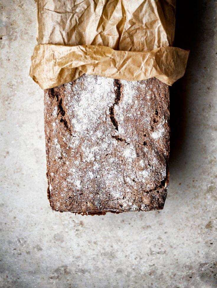 Easy Overnight Dark Rye Bread