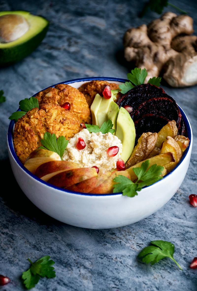 Baked Pumpkin Falafel | occasionallyeggs.com #veganrecipes