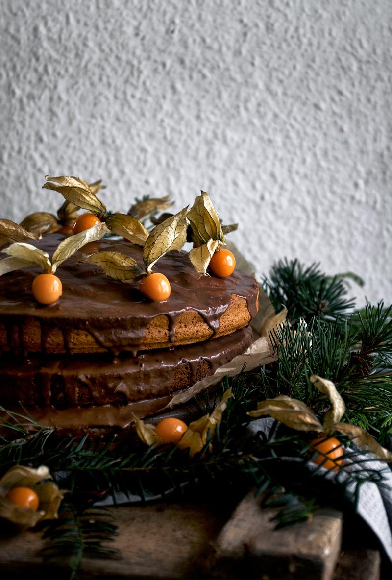 Vegan Pumpkin and Chocolate Layer Birthday Cake   occasionallyeggs.com