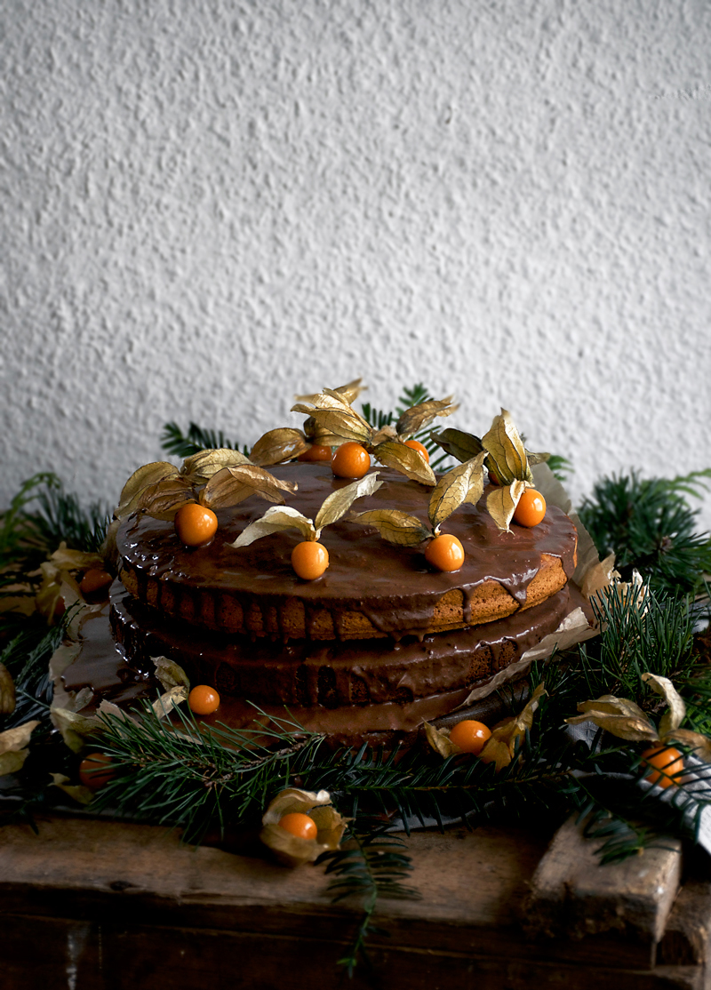 Vegan Pumpkin and Chocolate Layer Birthday Cake | occasionallyeggs.com