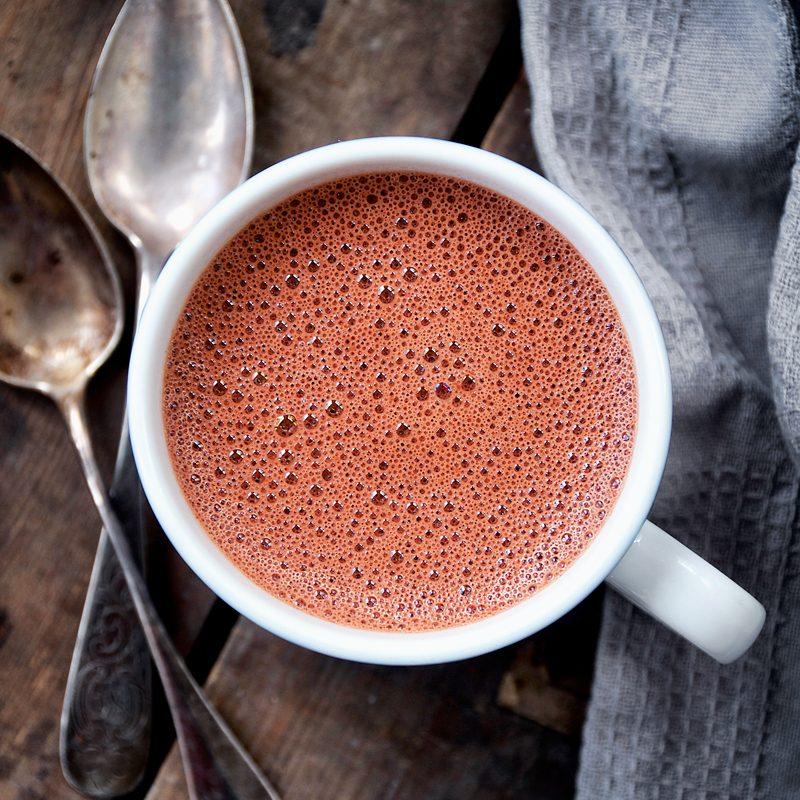 Red Velvet Hot Chocolate + Wellness Coaching