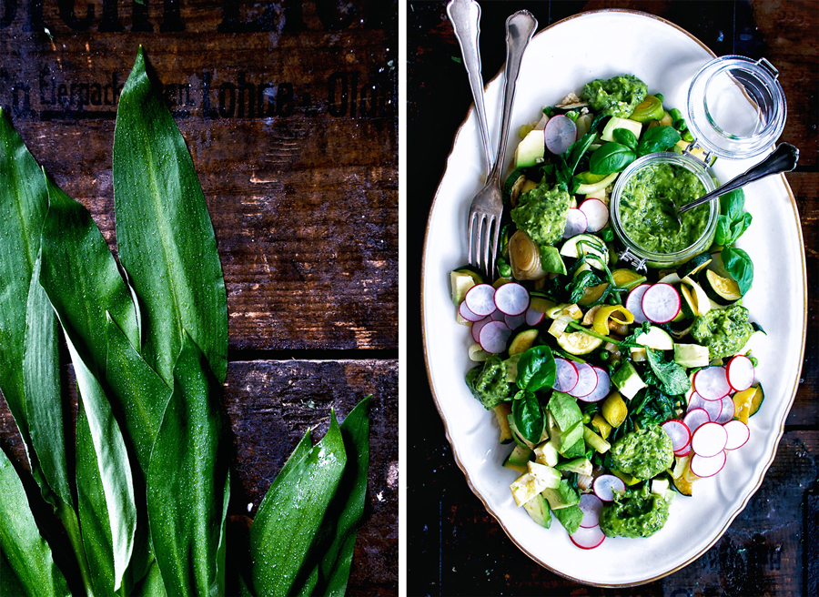 Spring Greens Salad with Wild Garlic | occasionallyeggs.com