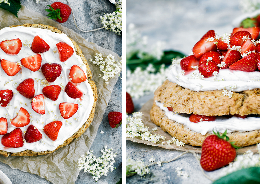 Strawberry Elderflower Scone Cake | occasionallyeggs.com
