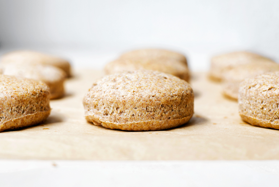 Vegan Whole Grain Coconut Oil Biscuits