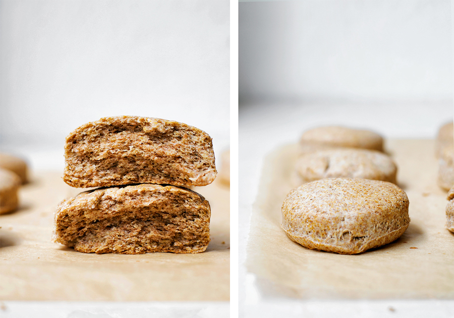 Vegan Whole Grain Coconut Oil Biscuits | occasionallyeggs.com