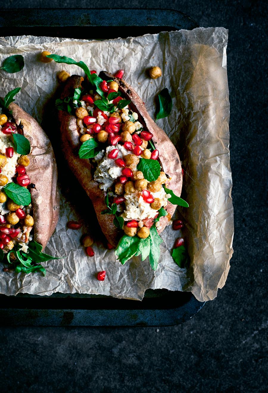 Cozy Moroccan Stuffed Sweet Potatoes | occasionallyeggs.com