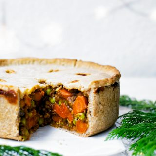 Vegan Holiday Pie with Hot Water Pastry | occasionallyeggs.com
