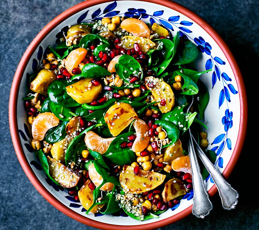 Winter Salad with Beets, Orange, and Pomegranate