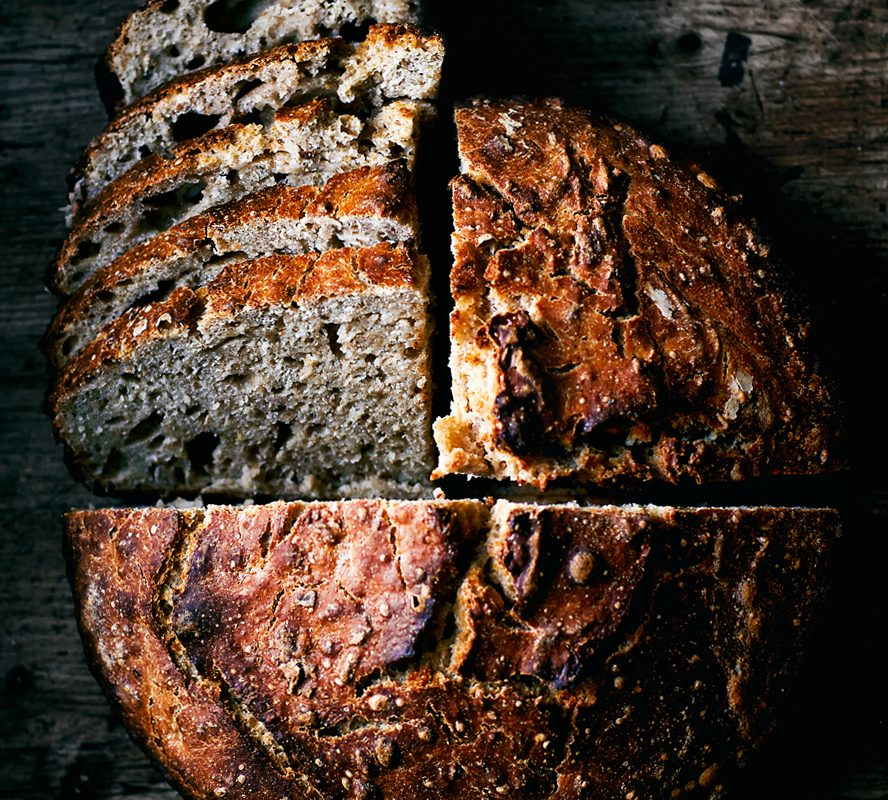 Easy No Knead Honey and Oat Spelt Sourdough