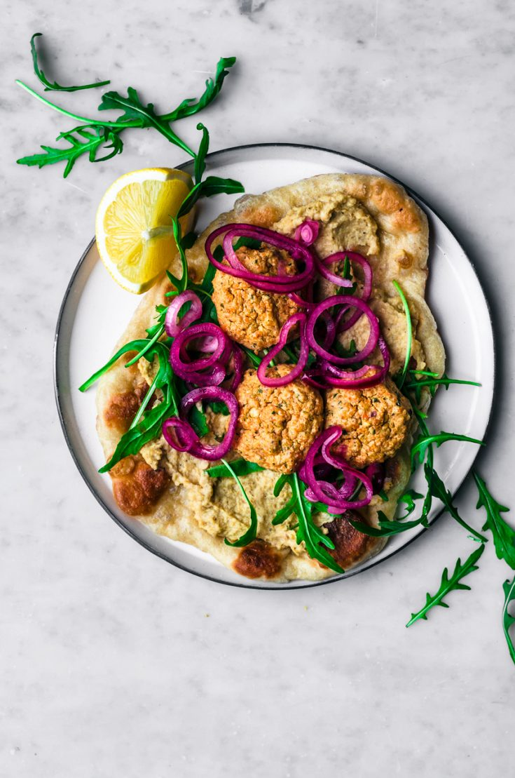 Red Lentil Falafel in a Naanwich | occasionallyeggs.com #healthy #redlentils #glutenfree