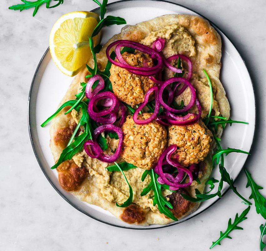 Red Lentil Falafel in a Naanwich | occasionallyeggs.com #redlentils #veganrecipes #healthy