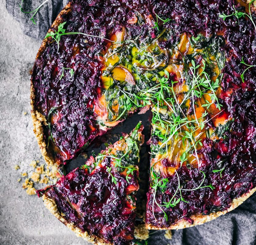Beets and Greens Tart