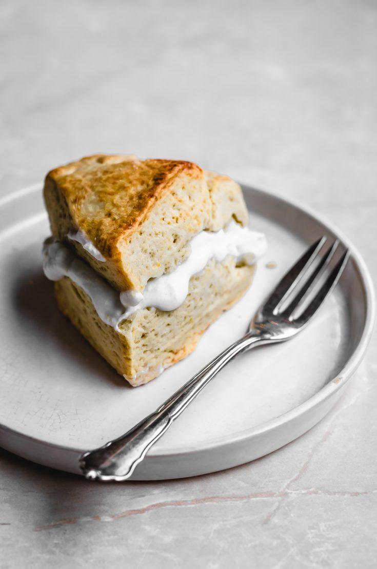 Vegan Bergamot Cream Scones | occasionallyeggs.com