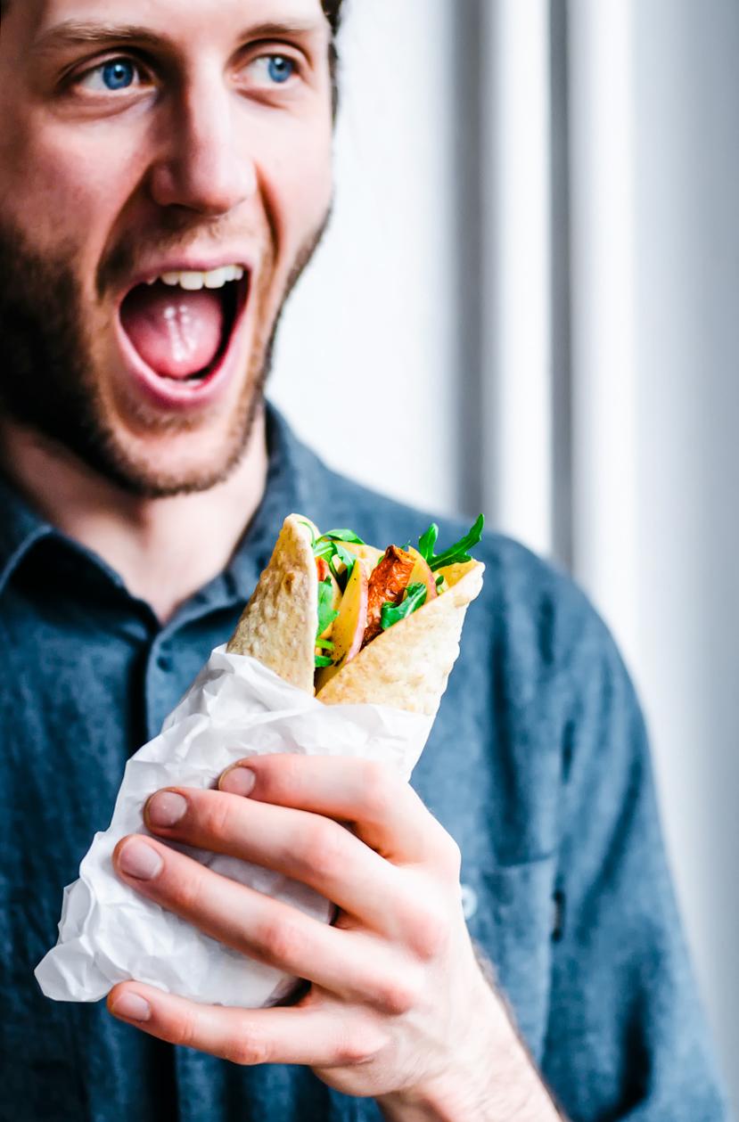Hummus and Veggie Wraps | occasionallyeggs.com