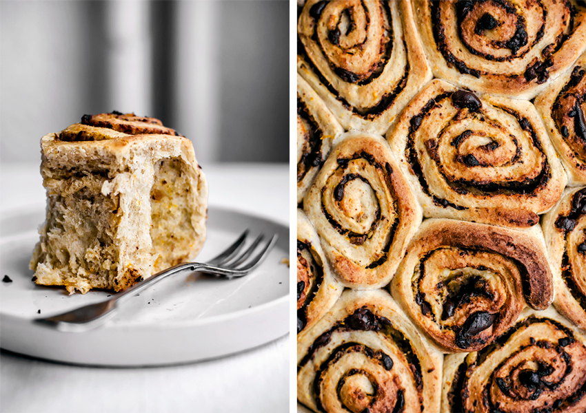Chocolate, Orange, and Date Cinnamon Buns | occasionallyeggs.com
