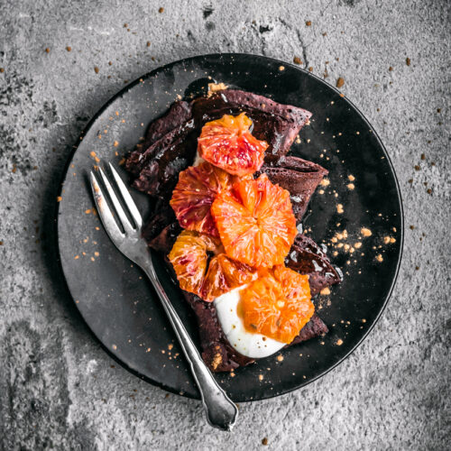 Vegan Dark Chocolate Crepes | occasionallyeggs.com