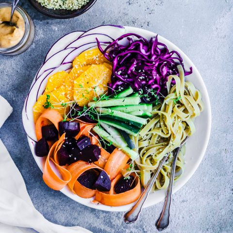Winter Glow Noodle Bowls with Orange Peanut Sauce | occasionallyeggs.com