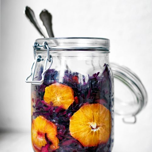 Ruby Red Cabbage Orange Salad | occasionallyeggs.com