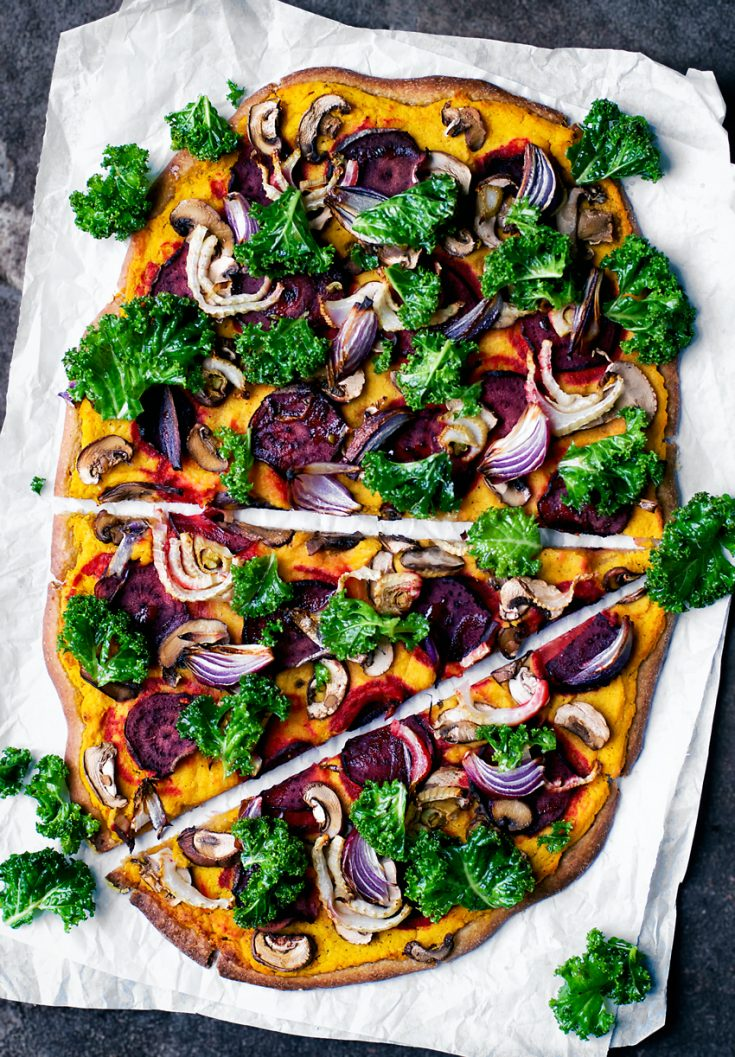Winter Root Vegetable Pizza with Spelt Sourdough Crust | occasionallyeggs.com