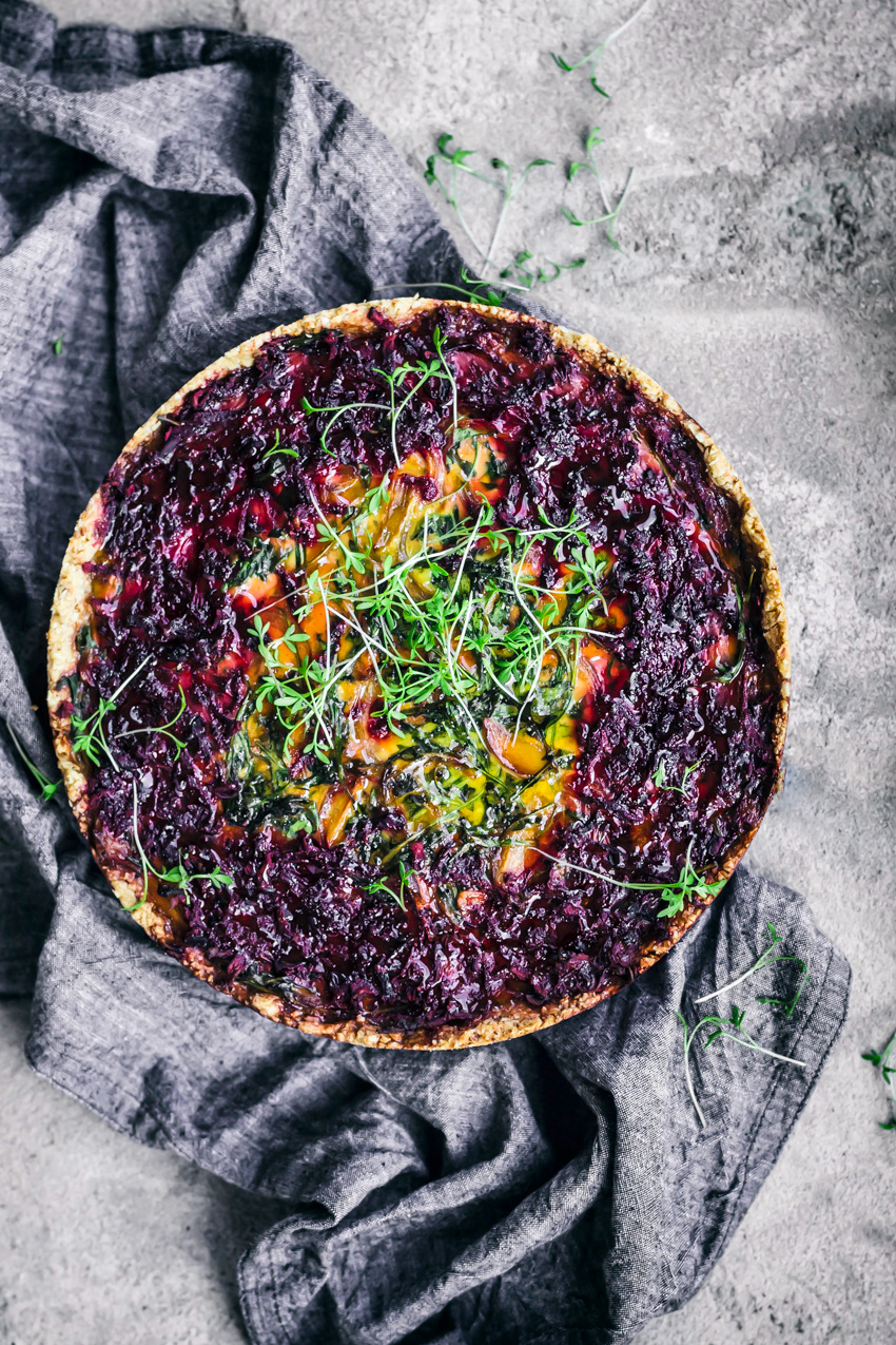 Beets and Greens Tart | occasionallyeggs.com