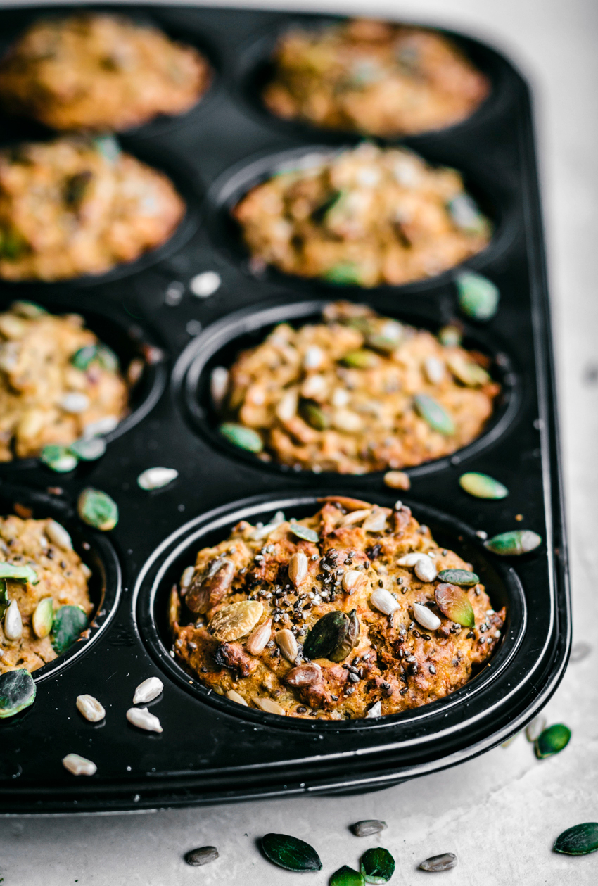 Morning Glory Carrot Muffins | occasionallyeggs.com
