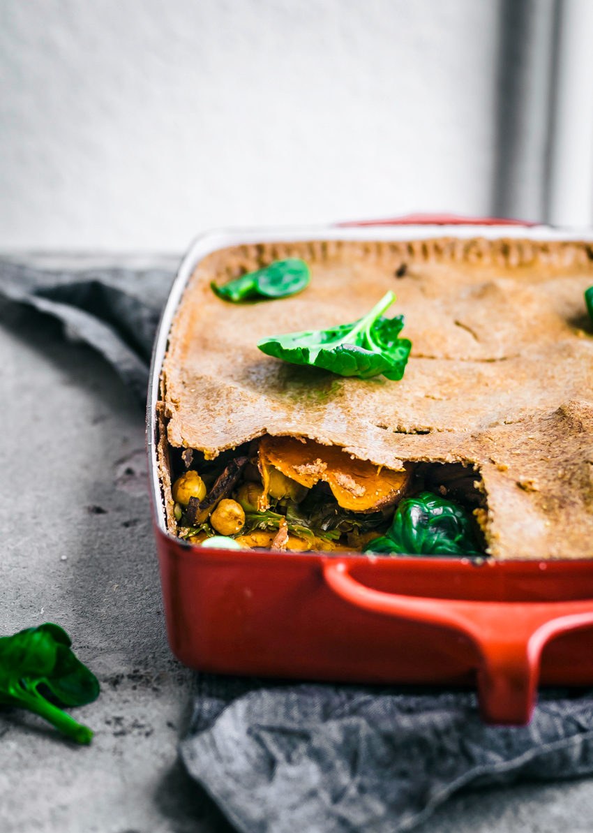 Sweet Potato, Spinach, and Chickpea Slab Pie | occasionallyeggs.com