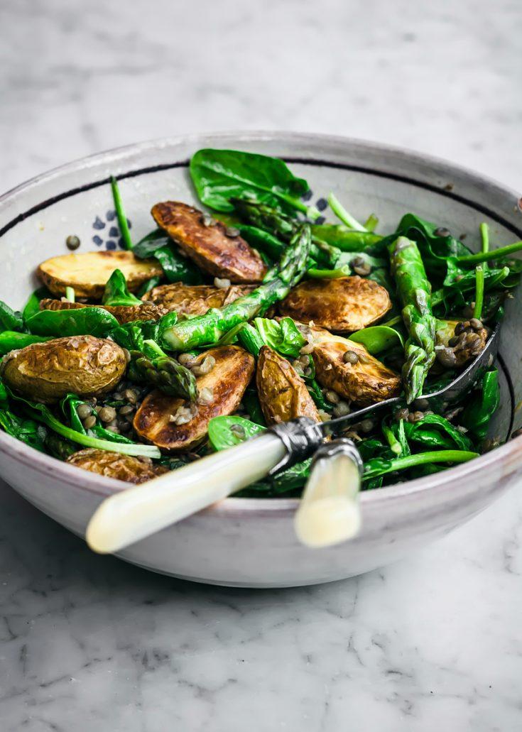 New Potato Salad with Asparagus & Lentils