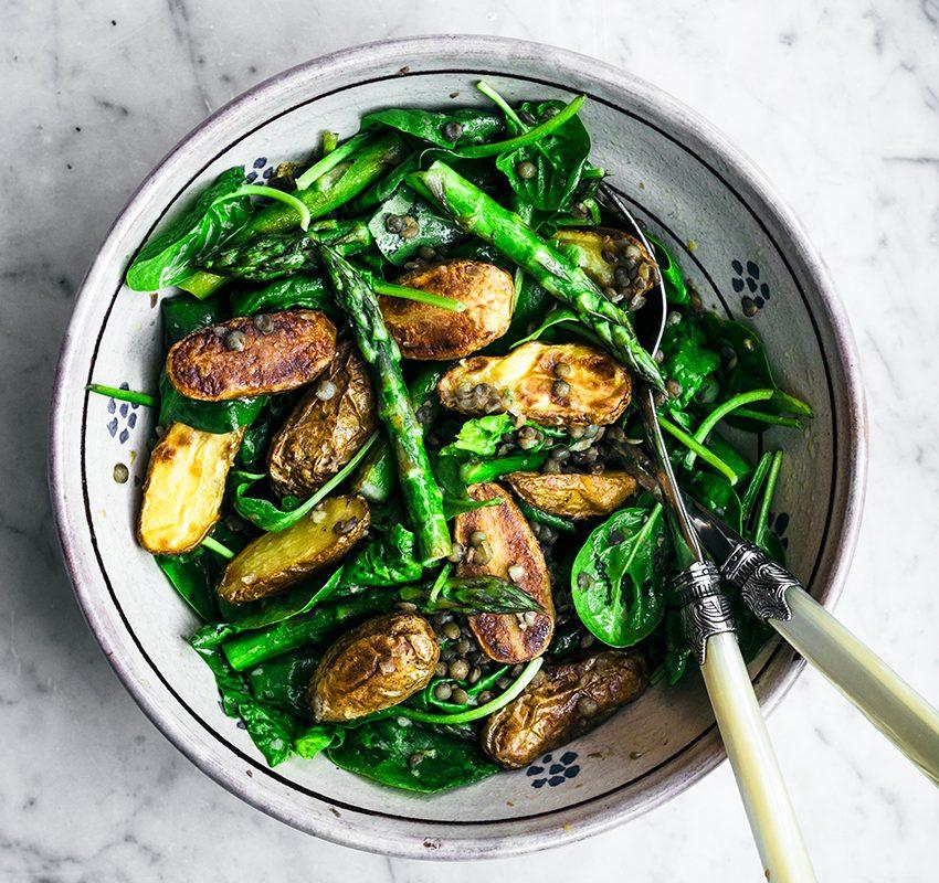 New Potato Salad with Asparagus & Lentils | occasionallyeggs.com