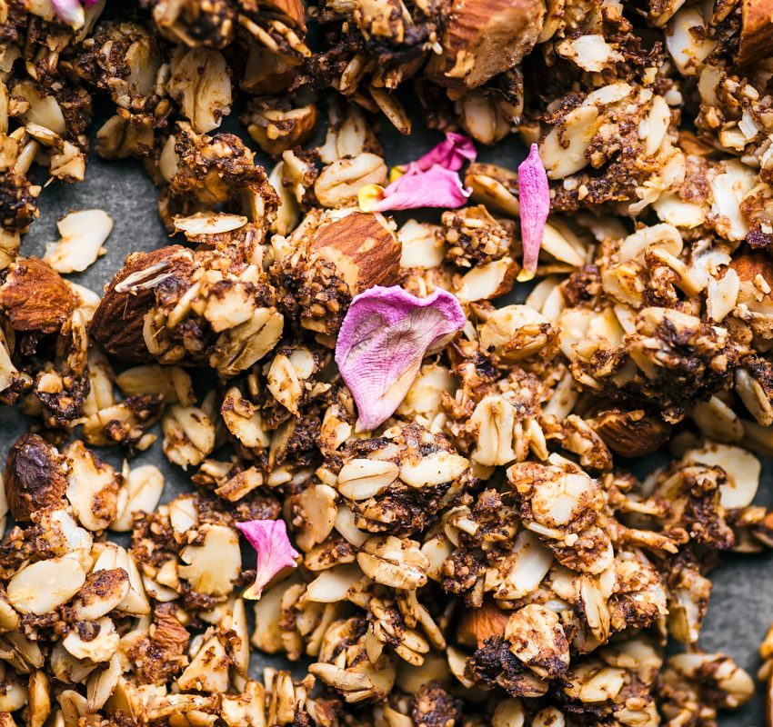 Almond, Rose, and Cardamom Granola