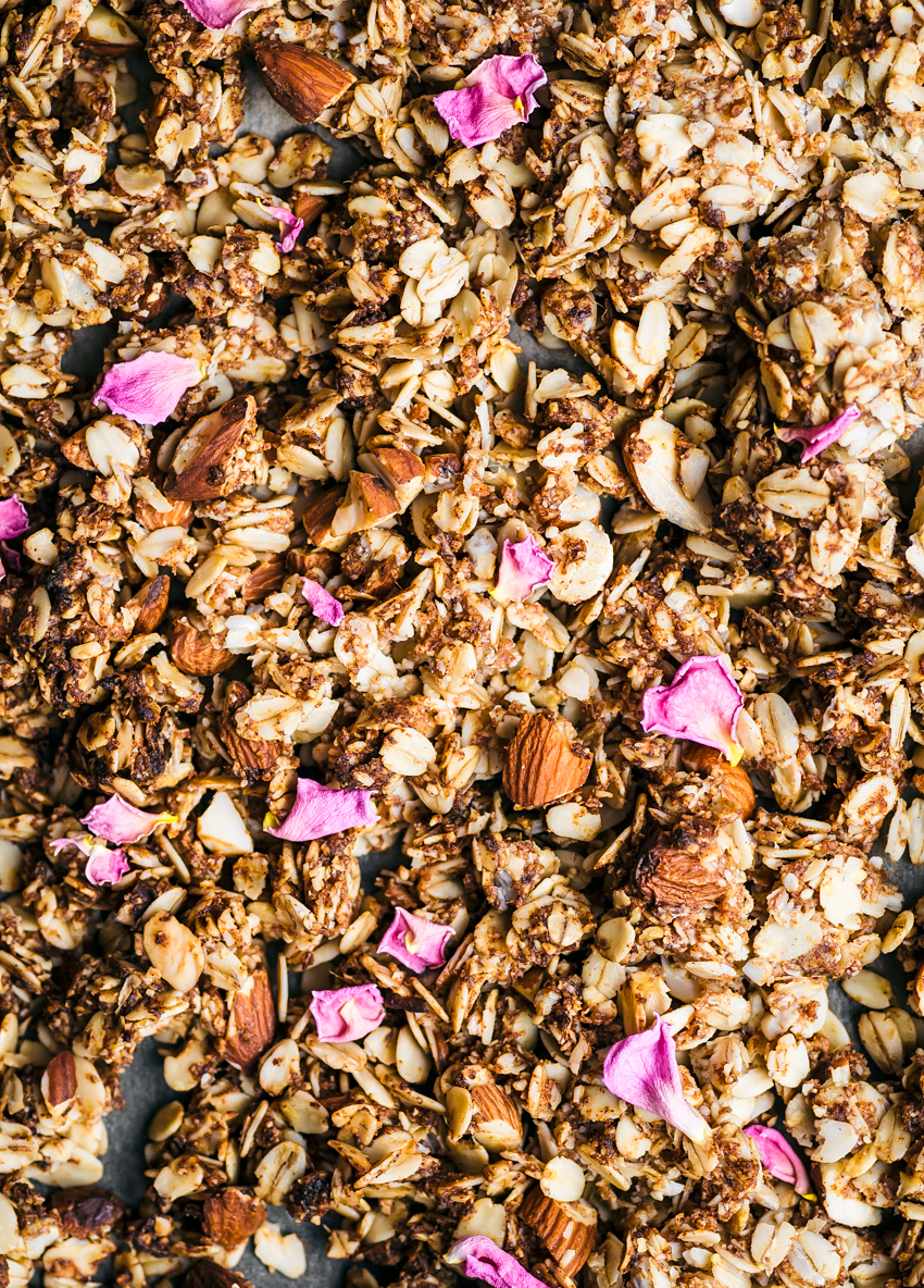 Almond, Rose, and Cardamom Granola | occasionallyeggs.com