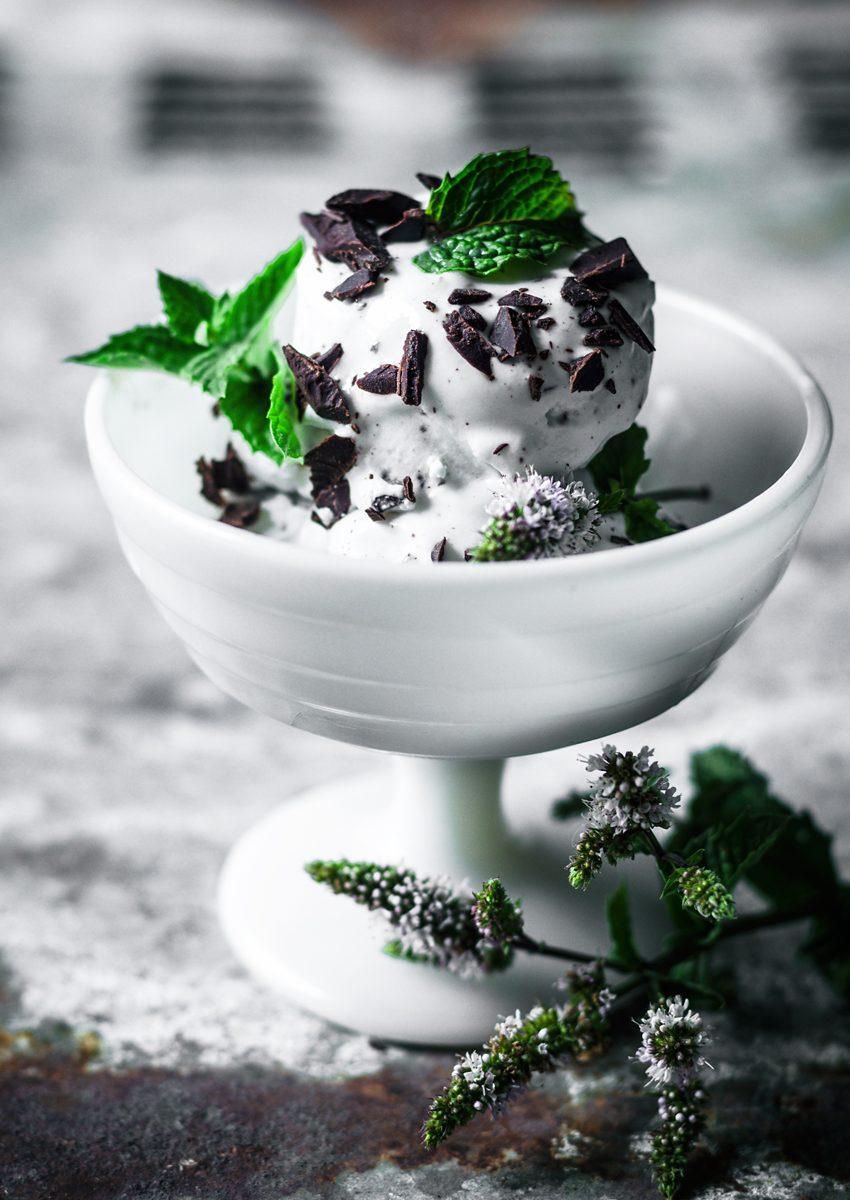 Vegan Mint Chocolate Ice Cream | occasionallyeggs.com