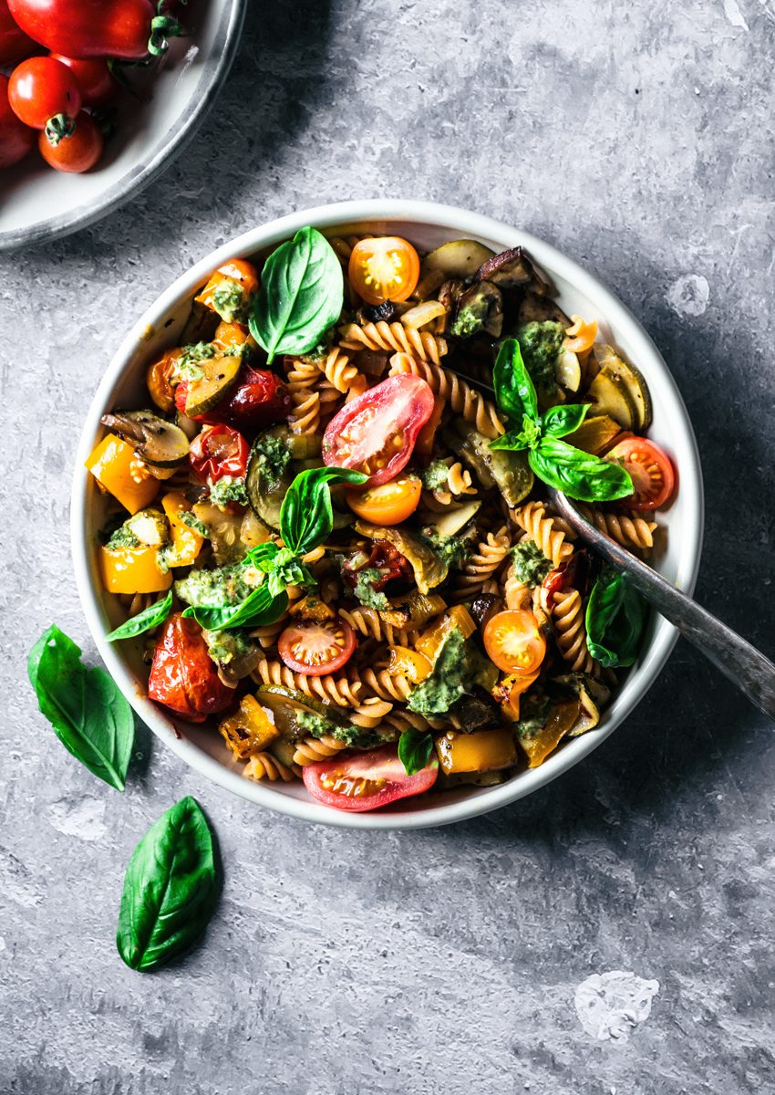 Roasted Summer Vegetable Pasta | occasionallyeggs.com