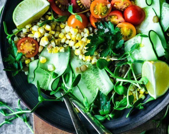 Mexican Lentil Salad with Lime Vinaigrette