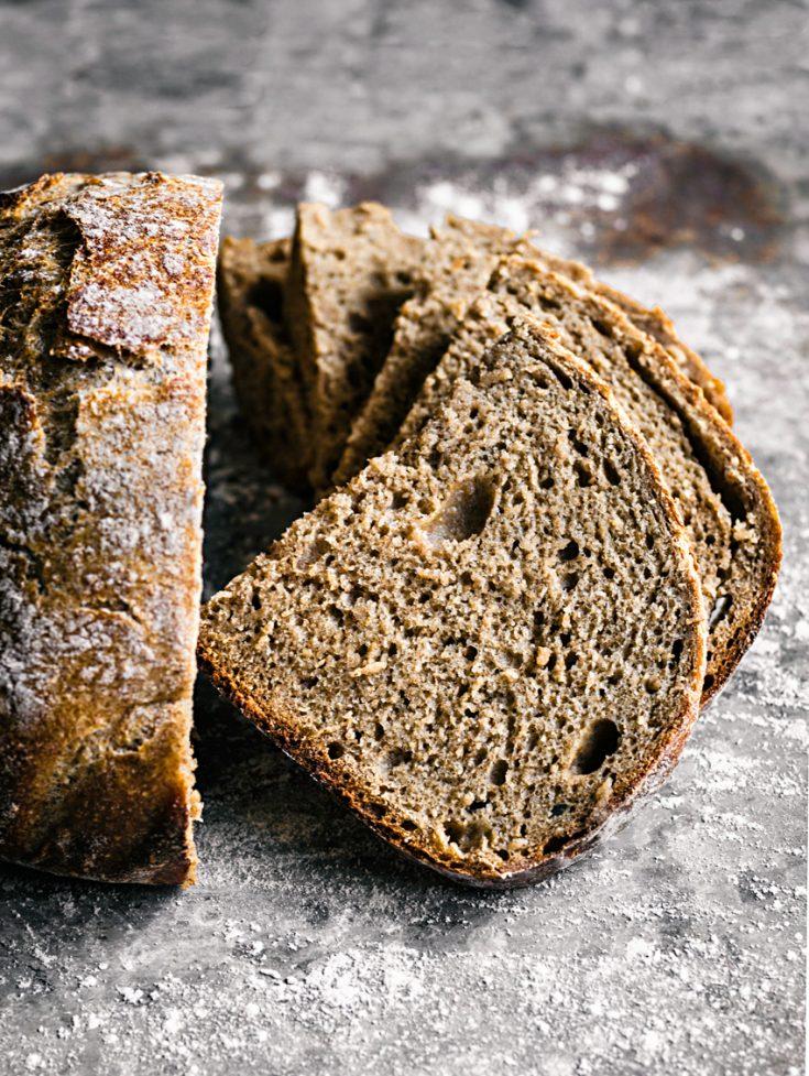 Easy Overnight Spelt Rye Bread
