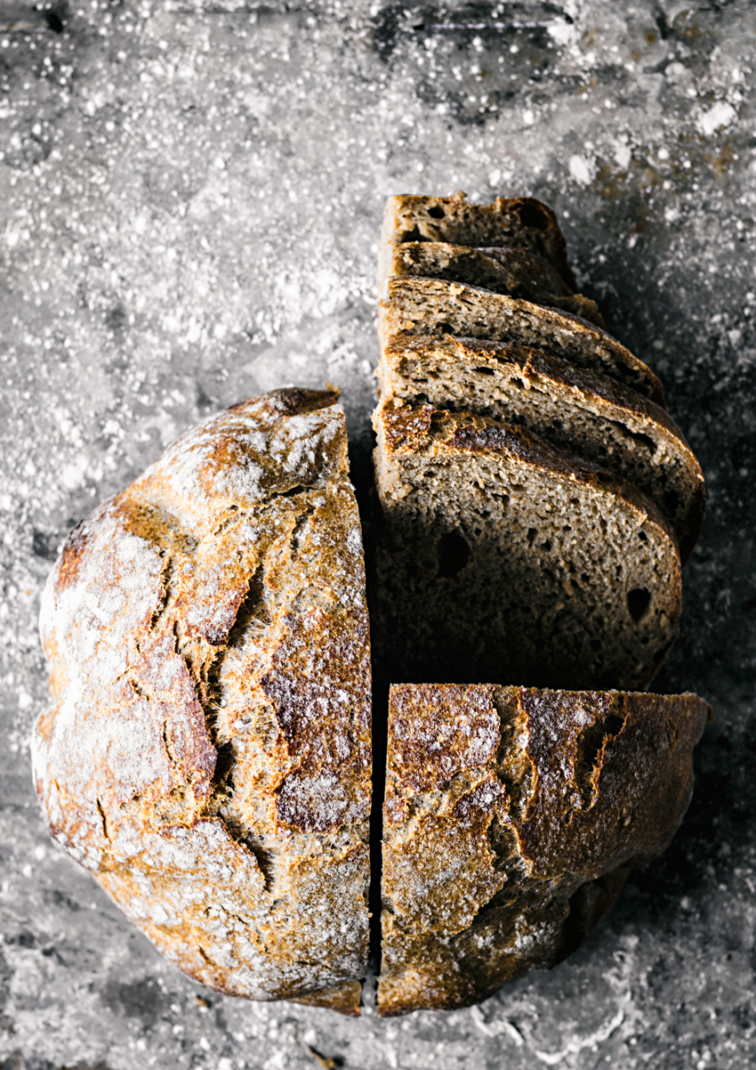 Easy Overnight Spelt Rye Bread | occasionallyeggs.com