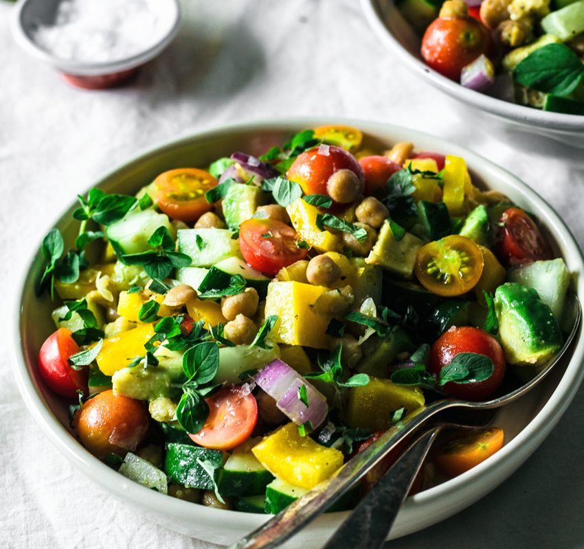 End of Summer Greek Chickpea Salad